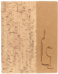 Vinný lístek DESIGN A4, korek
