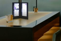 Jídelní lístek LED, osvělený, vysoký, černá(MC-LD45-BL)