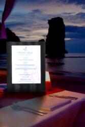 Jídelní lístek LED, osvělený, jednostranný, A4, černá(MC-LDSP-BL)