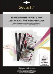 Transparentní vložky k tisku v INKOUSTOVÉ tiskárně (20 ks)