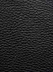 Jídelní lístek A4, kůže, jemnější povrch, kovový štítek, černý(MC-LRA4-RWBL)