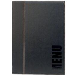 Jídelní lístek TRENDY A4, černá-Formát A4, 1 vložka (4 strany), lze doplnit