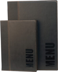 Jídelní lístek TRENDY A4, černá(MC-TRA4-BL)