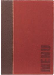 Jídelní lístek TRENDY A4, vínově červená