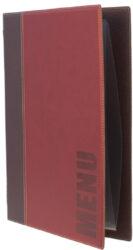 Jídelní lístek TRENDY A4, vínově červená(MC-TRA4-WR)