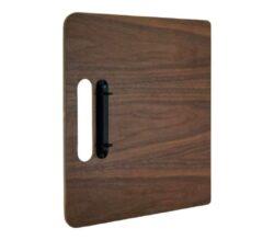 Deskový jídelní lístek A4 z ořechového dřeva s vázacími kroužky(MC-WALA4-CH)