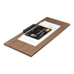 Desky na účtenky z ořechového dřeva s boční sponou(MC-WALBP-BL)