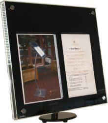 Osvětlená tabule z akrylátu 2 x A4, lesklá černá