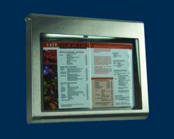 Osvětlená zasklená tabule CLASSIC 2 x A4, nerezová ocel