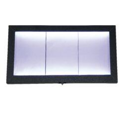 Osvětlená zasklená LED tabule 3 x A4, lakovaná(MCS-3A4-CS)