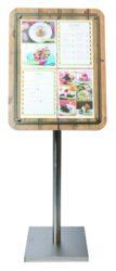 Tabule z tvrdého dřeva s nerezovým okrajem, 57x75 cm, Dub