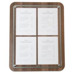 Tabule z tvrdého dřeva s nerezovým okrajem, 57x75 cm, Ořech(MCS-4A4-WAL)