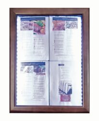 Informační zasklená tabule Dark Brown 4 x A4