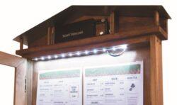 LED osvětlená tabule v setu se stojanem a podstavcem, desén mahagon, podstavec k(MCS-4A4-WLR-SET)