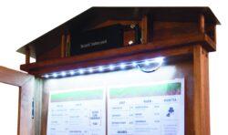 LED osvětlená tabule, pozink, desén mahagon(MCS-4A4-WLR)