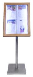 Informační zasklená tabule Teak 4 x A4(MCS-4A4-WLTE)
