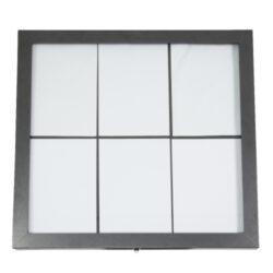 Osvětlená zasklená LED tabule 6 x A4, lakovaná ocel-Osvětlený panel bílými LED diodami