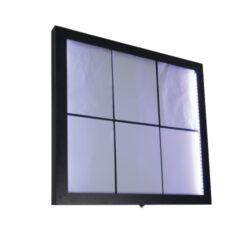 Osvětlená zasklená LED tabule 6 x A4, lakovaná ocel(MCS-6A4-CS)