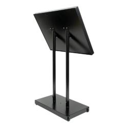 Osvětlená zasklená LED tabule 8 x A4, s postavcem a stojanem, černá(MCS-8A4-BL)