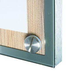 Tabule z tvrdého dřeva s nerezovým okrajem, A4, Dub(MCS-A4-OAK)