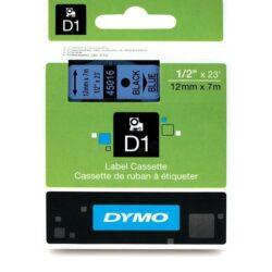 DYMO páska D1 12mm x 7m, černá na modré