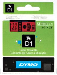 DYMO páska D1 12mm x 7m, černá na červené