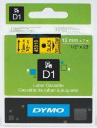 DYMO páska D1 12mm x 7m, černá na žluté