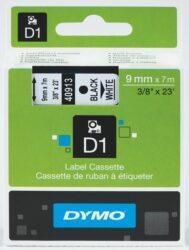DYMO páska D1 9mm x 7m, černá na bílé