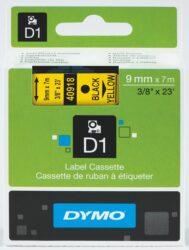 DYMO páska D1 9mm x 7m, černá na žluté