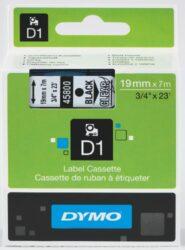 DYMO páska D1 19mm x 7m, černá na průhledné