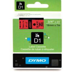 DYMO páska D1 19mm x 7m, černá na červené