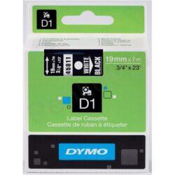 DYMO páska D1 19mm x 7m, bílá na černé