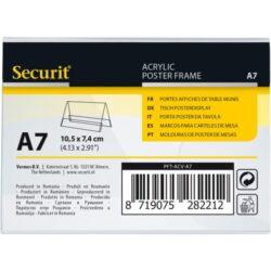 Průhledný stojánkový rámeček šikmý, A7(PFT-ACV-A7)