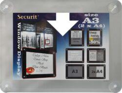 Informační rámeček na sklo A3, šedý