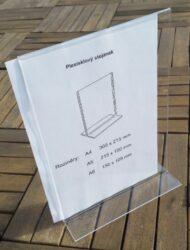 Stolní plexi stojánek A5 na výšku 215x150 mm (3 kusy v balení)(PX-T-V-A5)