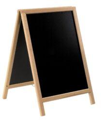 Nabídková stojanová tabule DUPLO SANDWICH 85x55 cm, přírodní dřevo