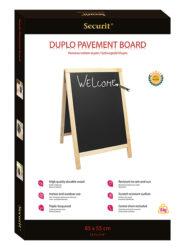 Nabídková stojanová tabule DUPLO SANDWICH 85x55 cm, přírodní dřevo(SBD-B-85)