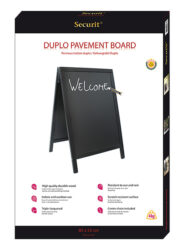 Nabídková stojanová tabule DUPLO SANDWICH 85x55 cm, černá(SBD-BL-85)