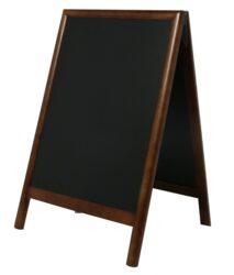 Nabídková stojanová tabule DUPLO SANDWICH 85x55 cm, tmavě hnědá