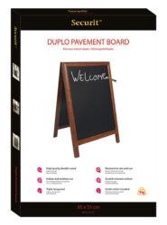 Nabídková stojanová tabule DUPLO SANDWICH 85x55 cm, tmavě hnědá(SBD-DB-85)