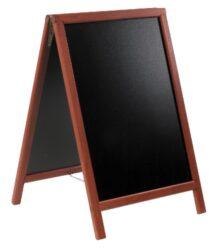 Nabídková stojanová tabule DUPLO SANDWICH 85x55 cm, mahagon
