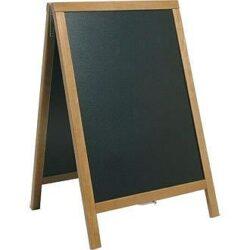 Nabídková stojanová tabule DUPLO SANDWICH 85x55 cm, teak