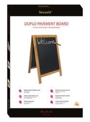 Nabídková stojanová tabule DUPLO SANDWICH 85x55 cm, teak(SBD-TE-85)