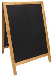 Nabídková stojanová tabule WOODY SANDWICH 85x55 cm, teak