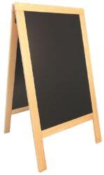 Nabídková stojanová tabule SANDWICH 135x70 cm, přírodní dřevo