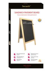 Nabídková stojanová tabule SANDWICH 135x70 cm, přírodní dřevo(SBS-B-135)