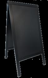 Nabídková stojanová tabule SANDWICH 75x135 cm, černá - doprodej