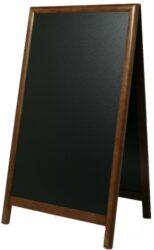 Nabídková stojanová tabule SANDWICH 120x70 cm, tmavě hnědá
