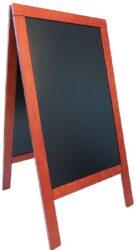 Nabídková stojanová tabule SANDWICH 135x70 cm, mahagon