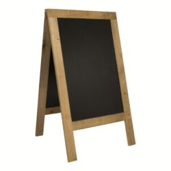 Nabídková stojanová rustikální tabule SANDWICH 135 x 72 cm, přírodní barva-Nabídková tabule na chodník s venkovní úpravou